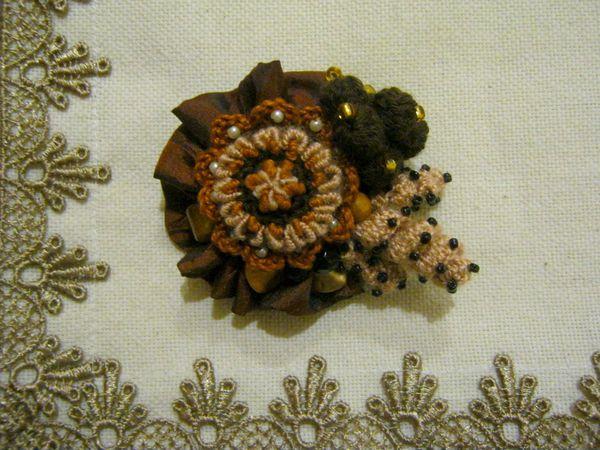 Создаём брошь «Осеннее ассорти» | Ярмарка Мастеров - ручная работа, handmade