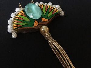 Создаем кулон «Цветы Египта». Сокровища фараонов из картона и других доступных материалов. Ярмарка Мастеров - ручная работа, handmade.