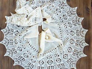 Молочная ажурная. Аукцион на весеннюю шаль из итальянского мериноса!. Ярмарка Мастеров - ручная работа, handmade.