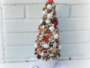 мастер-класс новогодняя ёлочка в горшочке | Ярмарка Мастеров - ручная работа, handmade