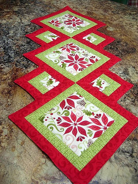 Christmas Table Runner by Quilting Barbie, via Flickr