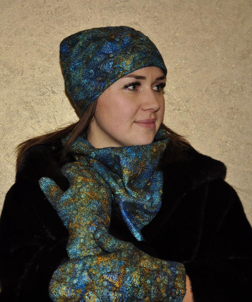 мастер-класс по валянию, валяние из шерсти, шарфы