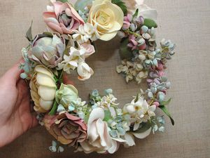 1000 и 1 деталь...Создание свадебного венка | Ярмарка Мастеров - ручная работа, handmade