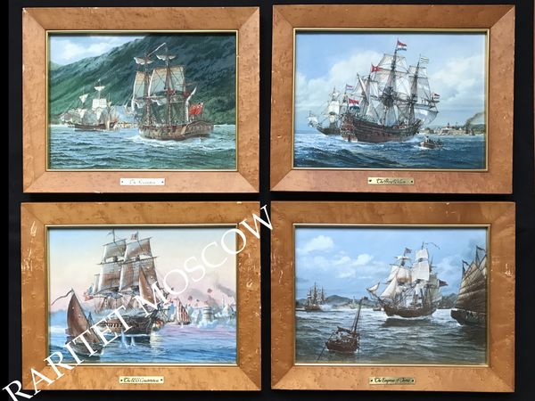 Картина фарфоровый пласт корабль Franklin 9 | Ярмарка Мастеров - ручная работа, handmade