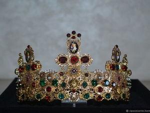 Корона с крестами,серьгами и колье с крестом. Ярмарка Мастеров - ручная работа, handmade.