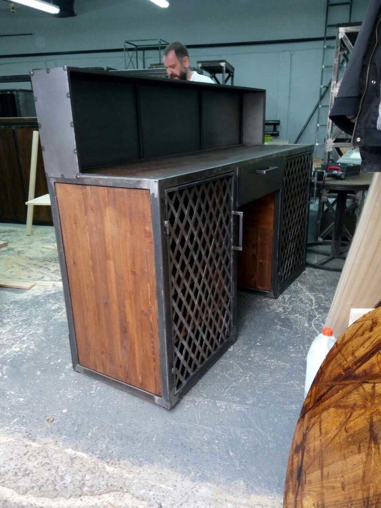 рецепшн лофт, мебель в стиле лофт, заказать рецепшн