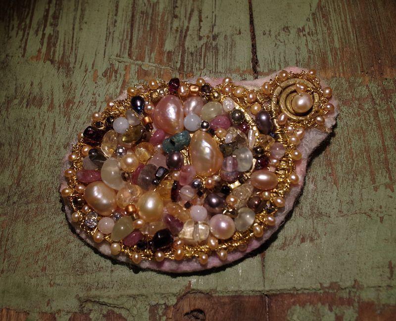 Авторские украшения из жемчуга и натуральных камней своими руками, фото № 24