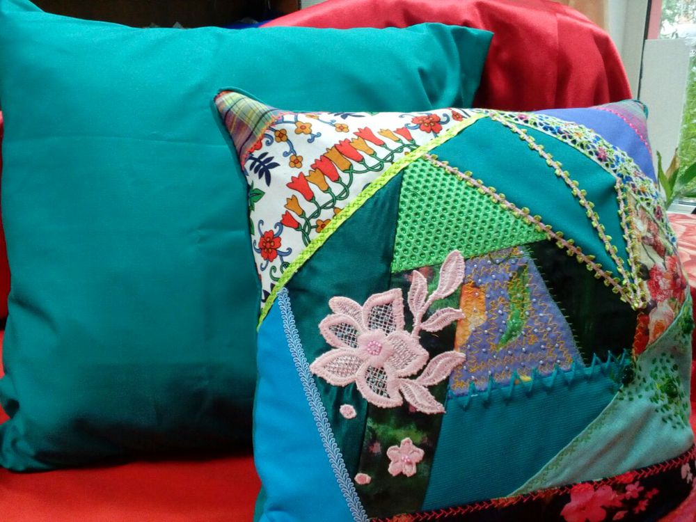пэчворк подушка, диван