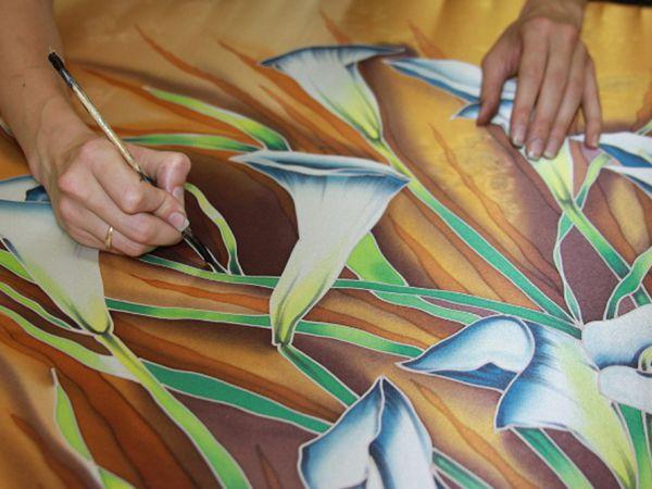 Мастер-класс по Батику СУББОТА  11  февраля  12-00. Холодный батик. | Ярмарка Мастеров - ручная работа, handmade