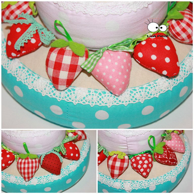 Торт своими руками из ткани