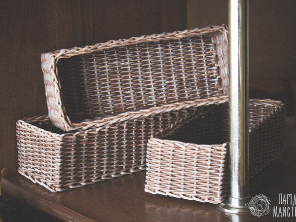 Видео мастер-класс: плетём из бумажных трубочек прямоугольную корзину | Ярмарка Мастеров - ручная работа, handmade