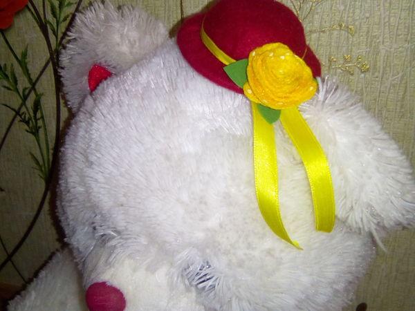 Мастерим маленькую фетровую шляпку   Ярмарка Мастеров - ручная работа, handmade