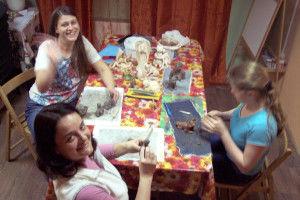 занятия лепкой, керамика