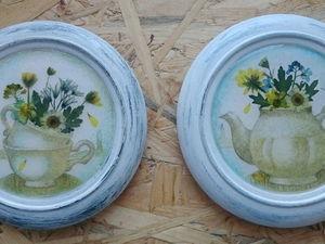 Чайник и чашки с живыми цветами. Процесс создания.. Ярмарка Мастеров - ручная работа, handmade.