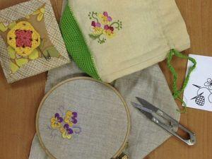 Мастер-класс: вышиваем в разных техниках.. Ярмарка Мастеров - ручная работа, handmade.
