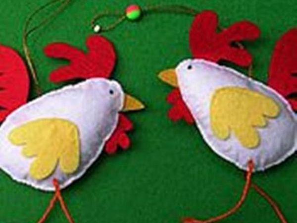 Важный пестрый петушок гордо носит гребешок | Ярмарка Мастеров - ручная работа, handmade