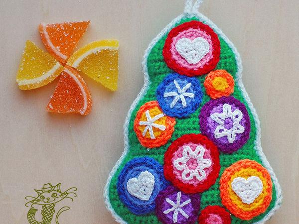 Вяжем новогодний сувенир «Мармеладная елочка» | Ярмарка Мастеров - ручная работа, handmade