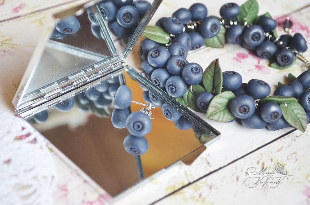 мастер-класс по лепке, лепка, черника, черничный браслет, ягоды из полимерной глины, жуковкий, цветочных дел мастерская