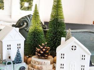 Декоративные домики в новогоднем интерьере. Ярмарка Мастеров - ручная работа, handmade.
