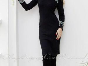 Аукцион на Вязаное платье с красивейшим французским кружевом! Старт 2500 руб.!!. Ярмарка Мастеров - ручная работа, handmade.