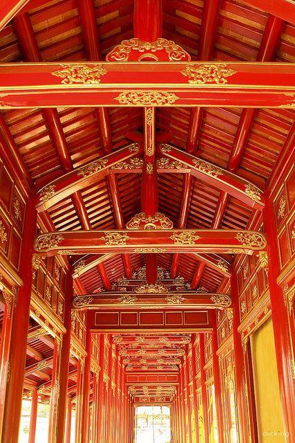 UNESCO World Heritage Site - Royal Architecture, Imperial City, Hue, Vietnam (i Ni, Hu, Hong cung, Kin trc cung nh)