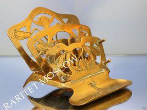 РЕДКОСТЬ Салфетница подставка бронза латунь 10 | Ярмарка Мастеров - ручная работа, handmade