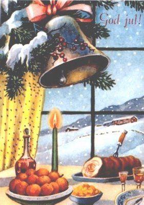 A VINTAGE NORWEGIAN CHRISTMAS CARD