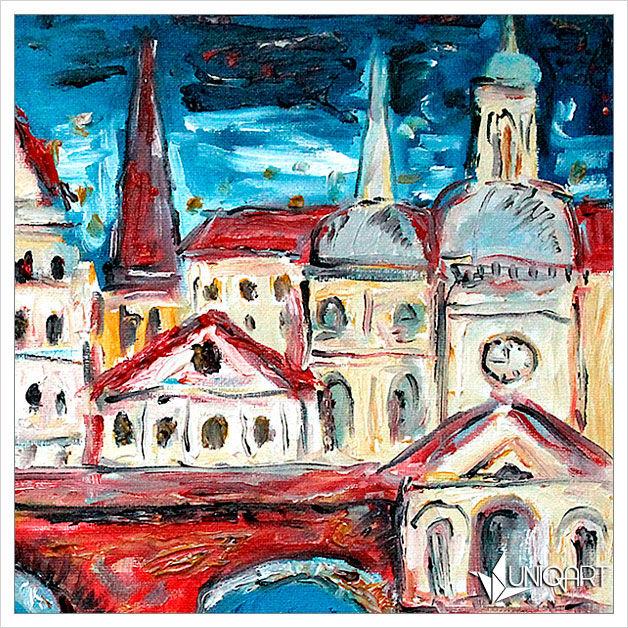 городской пейзаж, авторская ручная работа, картина для интерьера, архитектура, продажа картин
