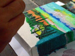 Результаты мастер-класса по росписи миниатюрных картин. Ярмарка Мастеров - ручная работа, handmade.