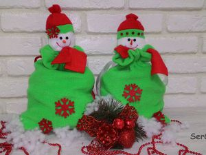 Делаем симпатичный мешочек для новогоднего подарка. Ярмарка Мастеров - ручная работа, handmade.