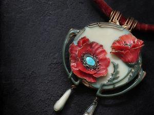 """Новая работа: Колье """"Fleurs d'Hypnos"""". Ярмарка Мастеров - ручная работа, handmade."""