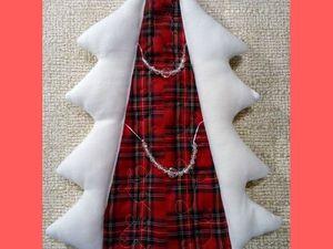 Чехол новогодний на бутылку ёлка из флиса и шерсти. Ярмарка Мастеров - ручная работа, handmade.
