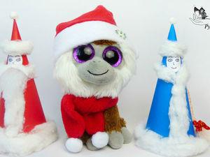 Как сделать Деда Мороза и Снегурочку из бумаги и как сшить новогодние шапку и шарф для игрушки. Ярмарка Мастеров - ручная работа, handmade.