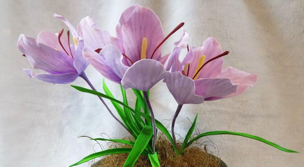 флористика ручной работы, цветы из фоамирана