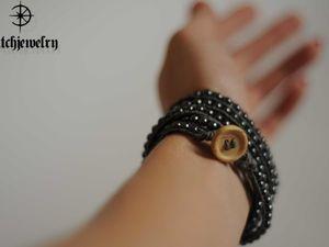 Плетем браслет Чан Лу с бусинами гематита. Ярмарка Мастеров - ручная работа, handmade.