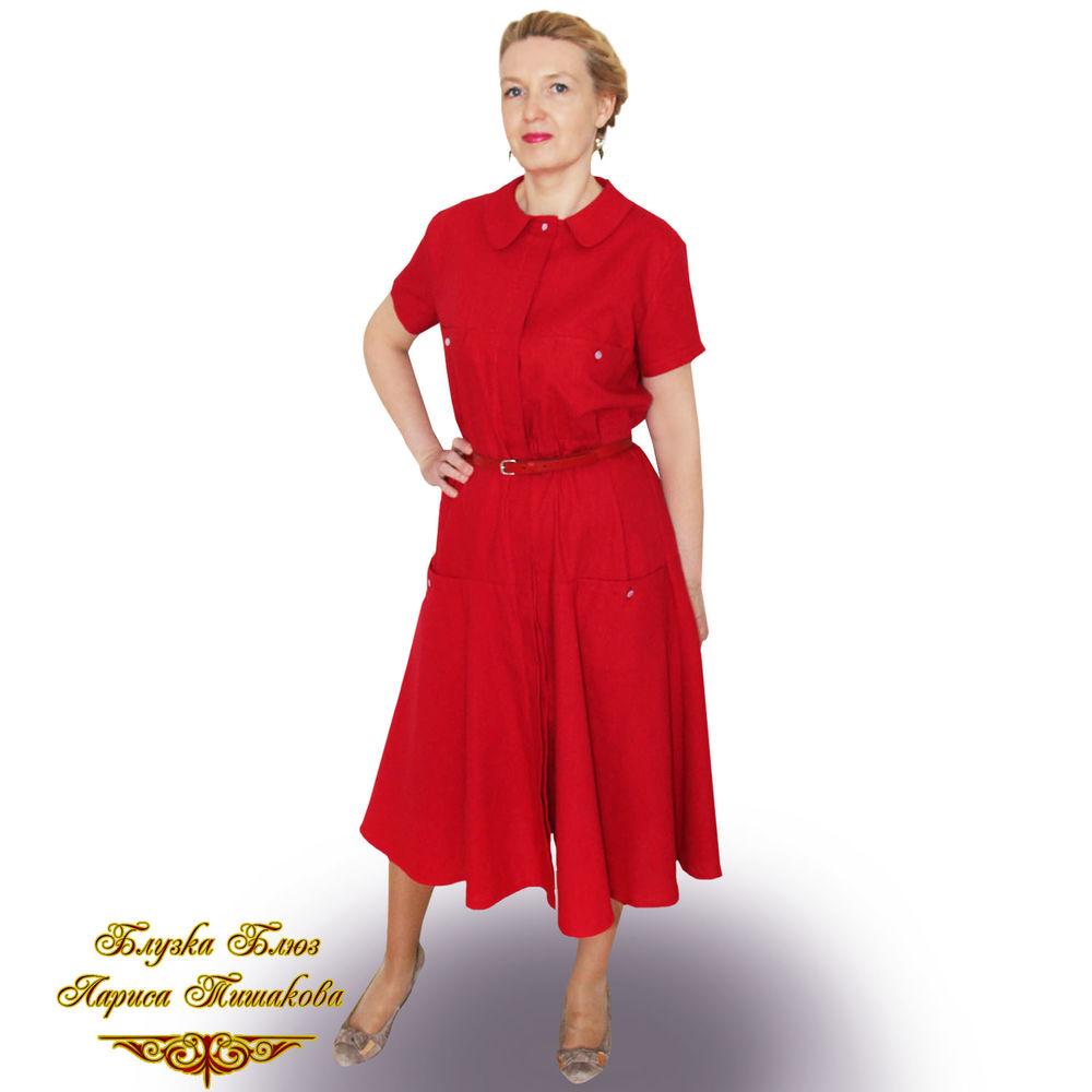 удобное платье, красное платье