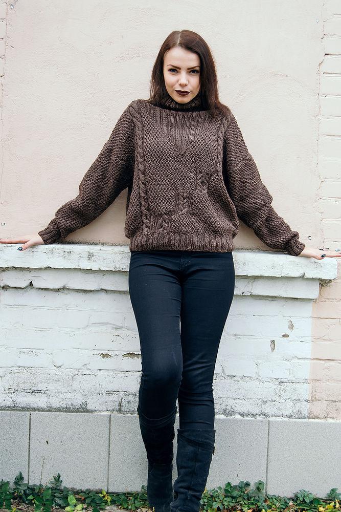 свитер, женский свитер, заказать вязаный свитер, заказать свитер, 100% меринос, свитер из мериноса