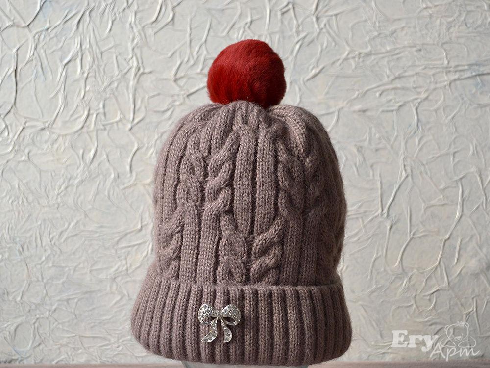 Крепим помпон на шапке, фото № 13