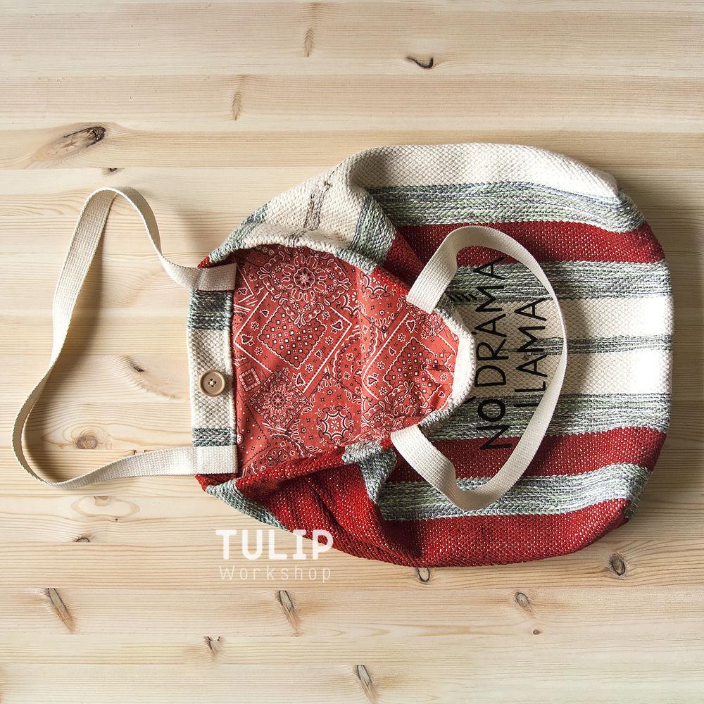 Шьем сумку-шоппер из домотканого коврика без выкройки, фото № 17