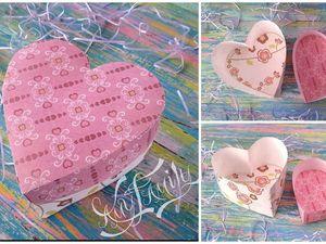 Изготавливаем  из бумаги подарочную коробочку в виде сердца. Ярмарка Мастеров - ручная работа, handmade.
