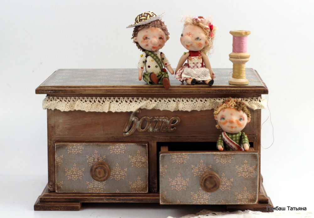 тедди, совушка, декупаж, авторская кукла, оригинально, молочный