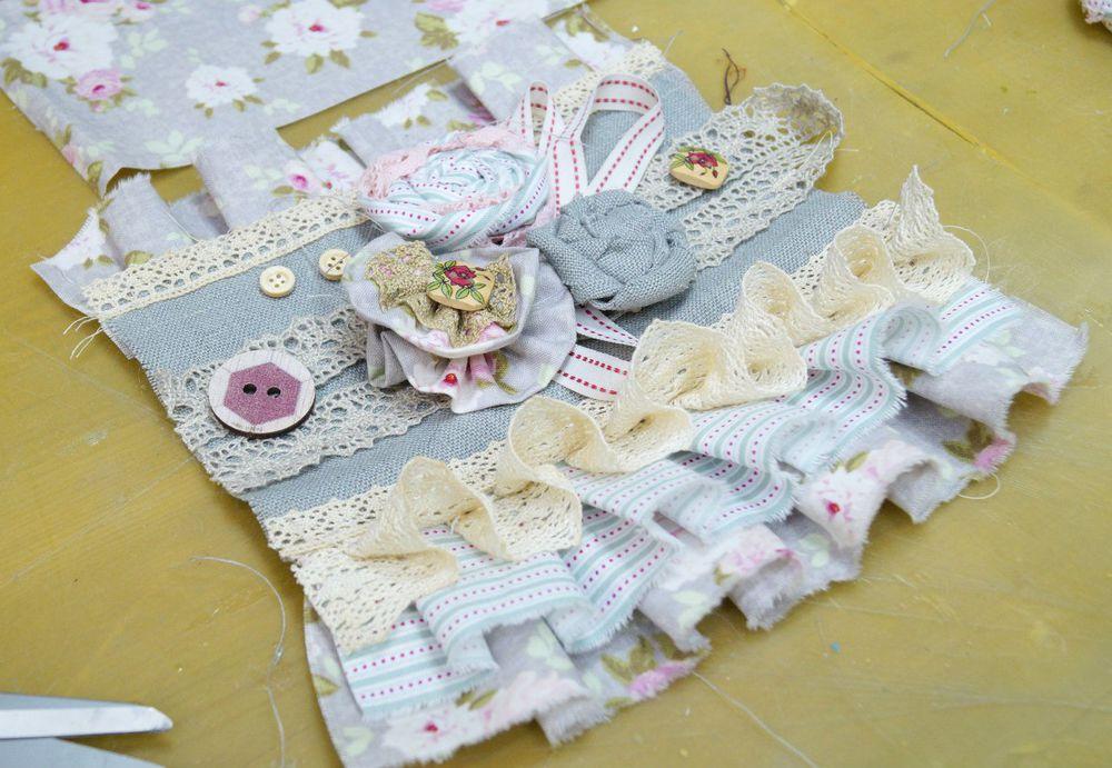 текстильные украшения, цветы из ткани