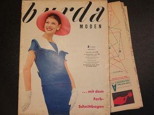 Burda moden 8/1959 Бурда моден. Ярмарка Мастеров - ручная работа, handmade.