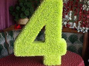 Создаем объемную цифру 4 на день рождения. Ярмарка Мастеров - ручная работа, handmade.