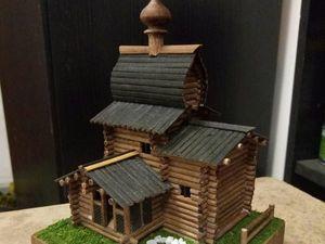 Как сделать миниатюру сруба церкви | Ярмарка Мастеров - ручная работа, handmade