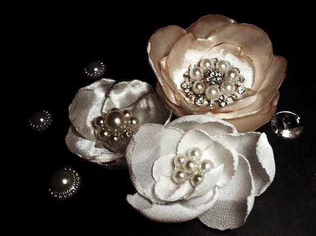 цветы из ткани, ручнаяработа, киров