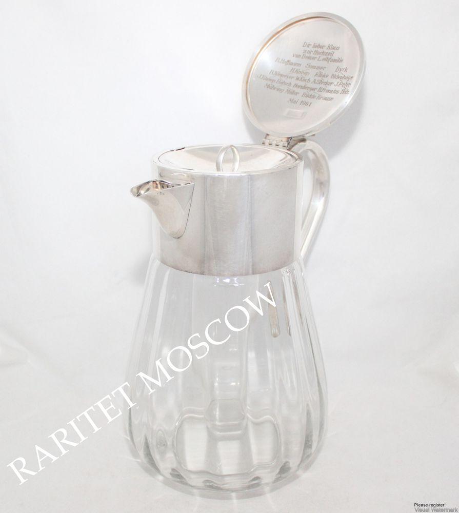Графин кувшин декантер с охлаждением серебрение 1, фото № 8