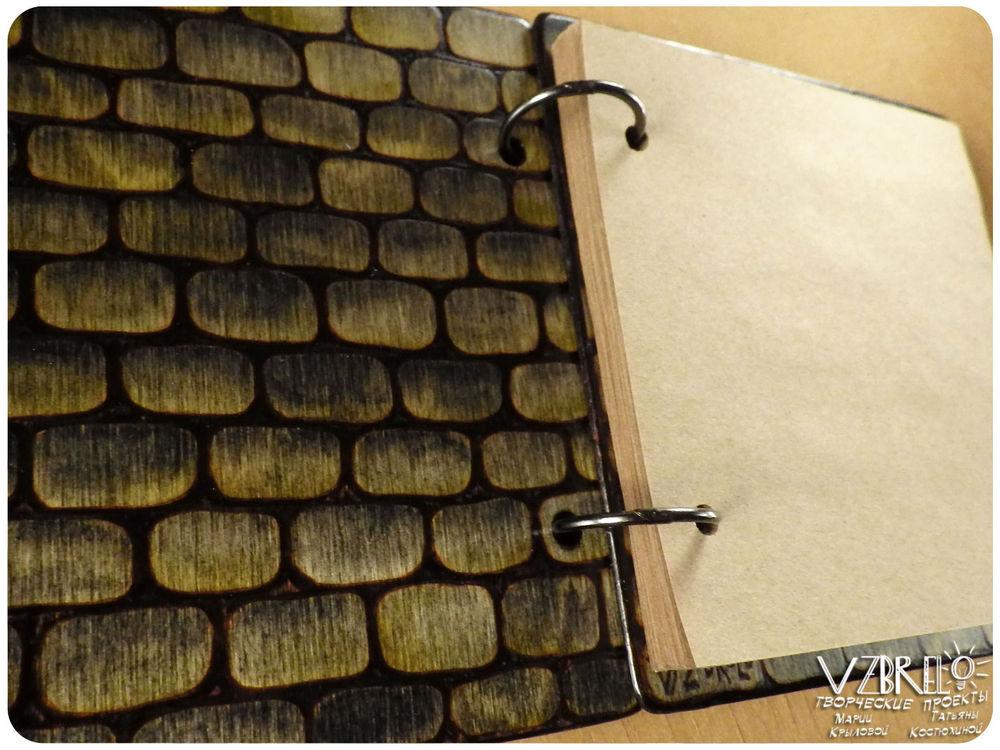 хоббит, блокнот, деревянный скетчбук, дверь