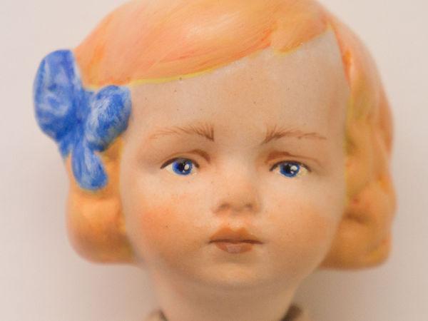 Расписываем голову фарфоровой куклы акрилом и пастелью   Ярмарка Мастеров - ручная работа, handmade