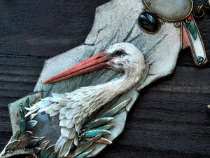 """Анонс новинки! Колье """"Ciconia"""" скульптурная миниатюра. Ярмарка Мастеров - ручная работа, handmade."""